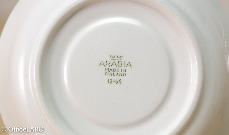 ARABIA/アラビア/コーヒーカップ&ソーサー ライン(1)/ターコイズ
