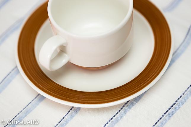 ARABIA/アラビア/コーヒーカップ&ソーサー/ブラウン